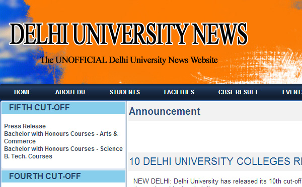 Delhi University News
